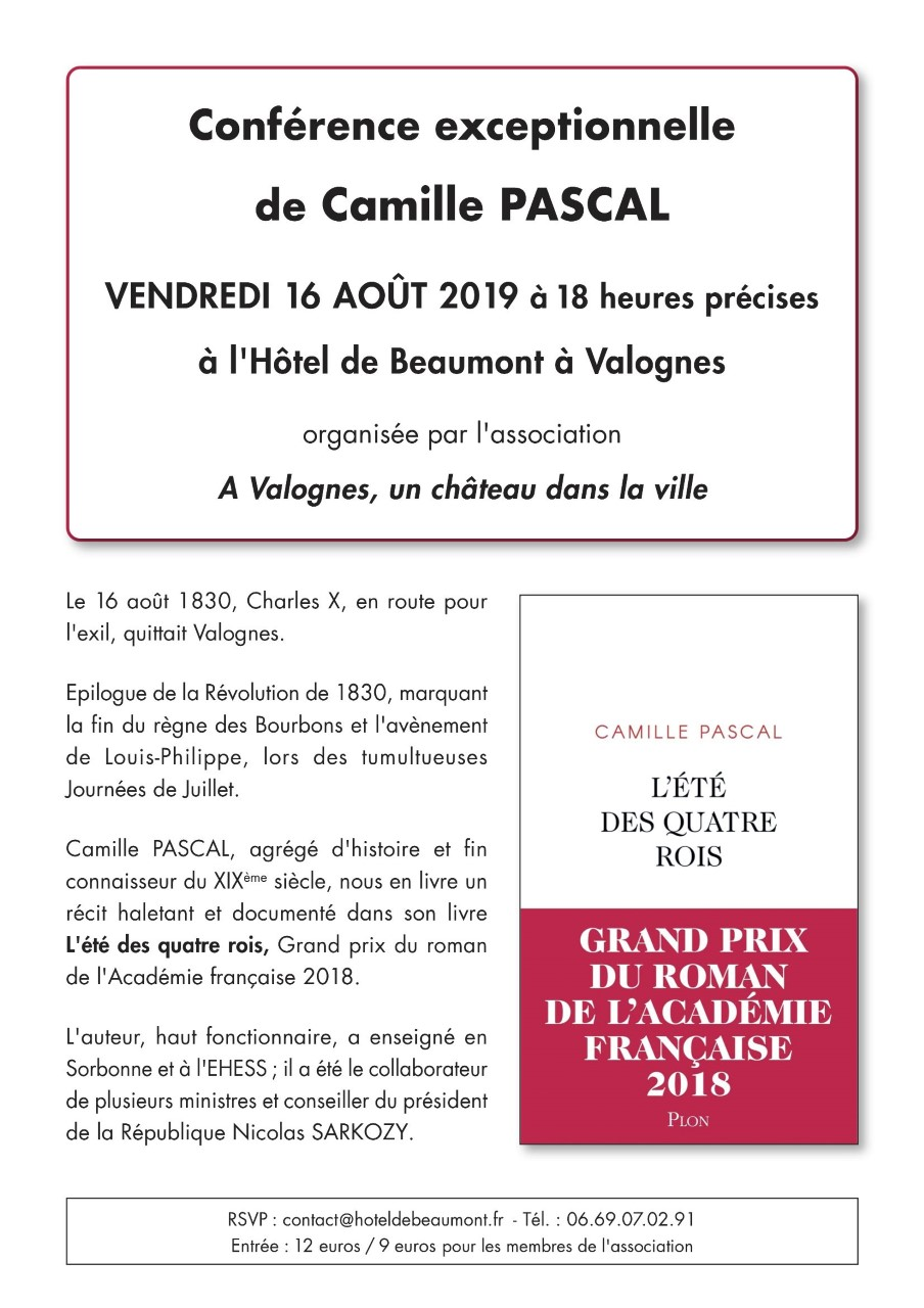 Camille Pascal Valognes 2019